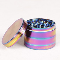 Smoking Pipe Dazzle Color 4 Layer Metal Herb Zinc Alloy Tobacco Grinder 50MM In Diameter Cigar Cigarettes Free Shipping
