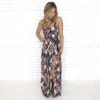 Margaritaville Floral Maxi Dress in Black