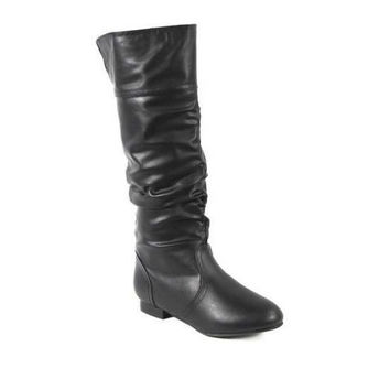 Carrini CA Collection Women's Fashion Slouchy Boots, 7.5, Black