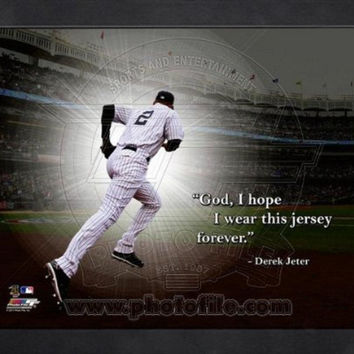 MLB New York Yankees Derek Jeter Pro Quote Picture Frame