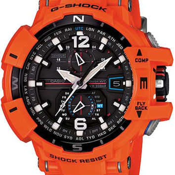 Casio Mens G-Shock Triple G Solar Atomic G-Aviation w/Compass - Orange & BlacK
