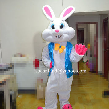 Easter Bunny Mascot Costume,Easter Bunny Cosplay Costume,Adults Costume,Bunny Cosplay,Bunny Costumes,Easter Costumes,Rabbit Cosplay,Clothing