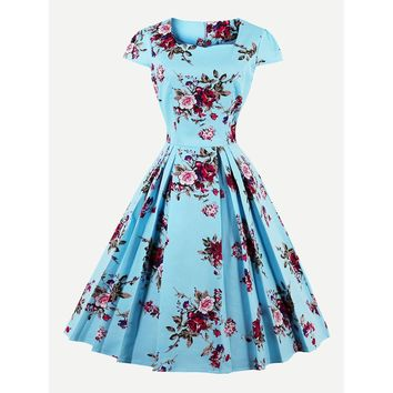 All Over Floral Circle Dress