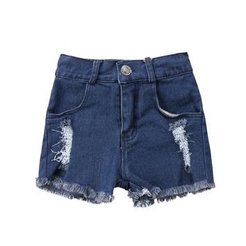 Hot Shorts Summer Newborn Kids Baby Boys Girls Hole Jeans  Pants Clothes Hot Pants Fashion Denim Short Pants 0-5YAT_43_3