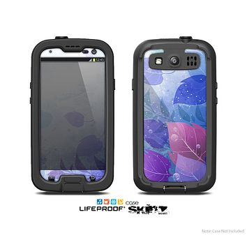 The Magical Abstract Pink & Blue Floral Skin For The Samsung Galaxy S3 LifeProof Case