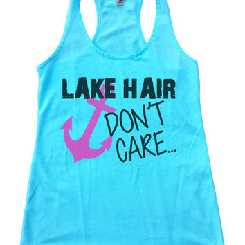 Lake Hair Dont't Care Womens Workout Tank Top F693