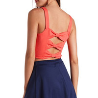 TRIPLE BOW-BACK CROP TOP