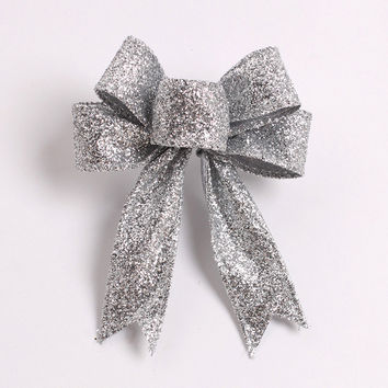 Merry Christmas 13cm Bowknot Decor Christmas Tree Hanging Decoration Xmas Bowknot Ornament [8323724481]