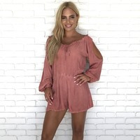 Rachael Cold Shoulder Romper