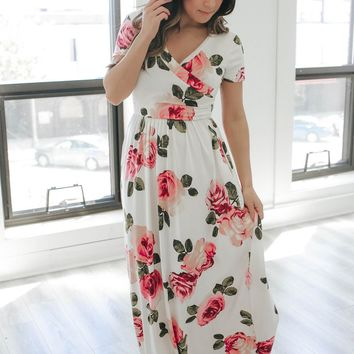 NATURALLY CHARMING MAXI DRESS