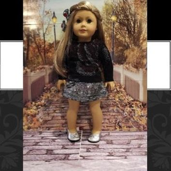 "will fit American Girl® 18 inch doll clothes ""Sparkle"" doll outfit  ensemble R8"