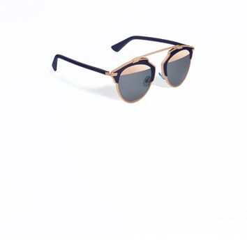 "DIOR SO REAL ""DIOR SO REAL"" SUNGLASSES, BLEU MARINE AND PINK GOLD"