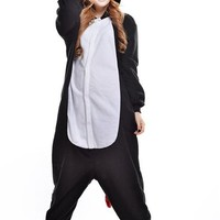 Polar Fleece Onesuit Costume Pajamas Unisex Sleeping Wear Cosplay Cosplay