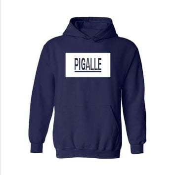 Street PIGALLE A $ AP Rocky HBA PYREX men and women Hooded sweater coat cool Dark blue
