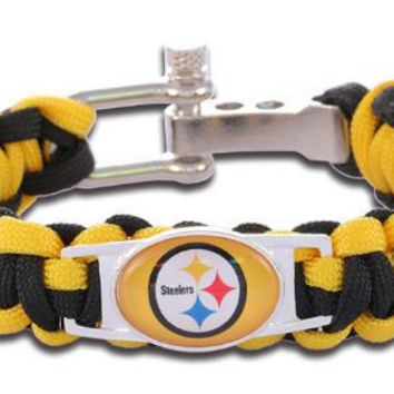 NFL - Pittsburgh Steelers Custom Paracord Bracelet