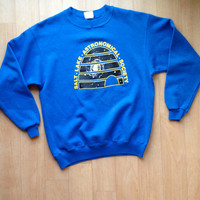 Old School Salt Lake Astronomical Society Blue Crew Neck / Large