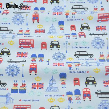 Lovely Cartoon Designs 100% Cotton Fabric Twill Home Textile Material Quilting Fabrics for Patchwork Bedding Baby Cloth