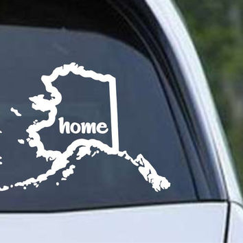 Alaska State Home Outline AK - USA America Die Cut Vinyl Decal Sticker