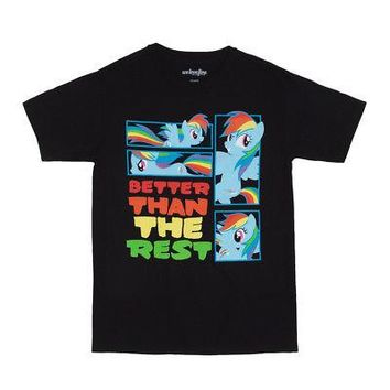 My Little Pony Better Than The Rest Rainbow Dash Licensed Adult T-Shirt - Black