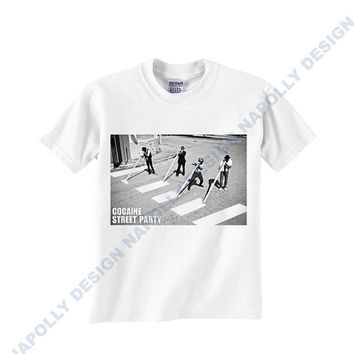 cocaine street party Custom Tshirt for men's , T shirt Cotton, Funny T shirt, Awesome T shirt, best design and clothing