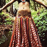 Lotta Stensson Navajo Skirt with Lace in Nautical