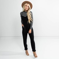 Bri Tied Jumpsuit in Black