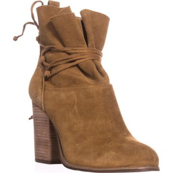 Jessica Simpson Satu Ankle Tie Slouch Ankle Boots, Honey Brown, 10 US / 40 EU