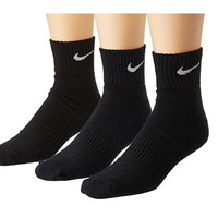 Nike Cotton Cushion Quarter with Moisture Management 3-Pair Pack Black/White - Zappos.com Free Shipping BOTH Ways