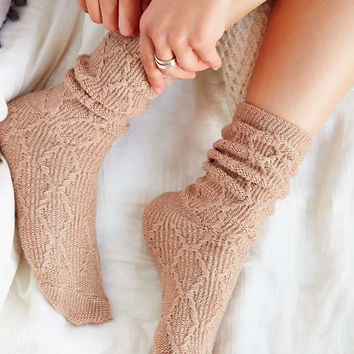 Braided Diamond Boot Sock - Urban Outfitters