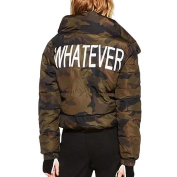 Whatever Camo Bomber Jacket