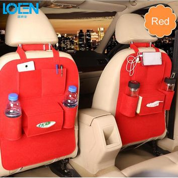High Grade Car Seat Organizer Universal Blankets Multi Pocket Insulation Automobile Seat Back Humanized Storage Bag Felt Covers