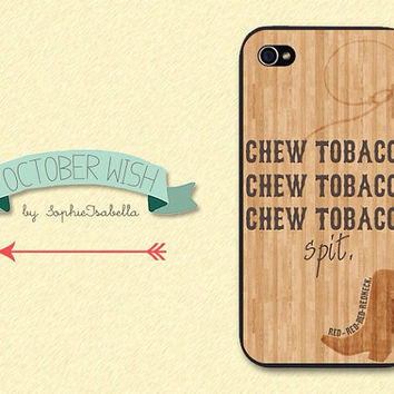 Chew Tobacco Spit iPhone 4/4S/5 Case by OctoberWish on Etsy
