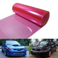 12 by 48 inches Self Adhesive Hot Pink Headlights, Tail Lights, Fog Lights, Sidemarkers Tint Vinyl Film:Amazon:Automotive