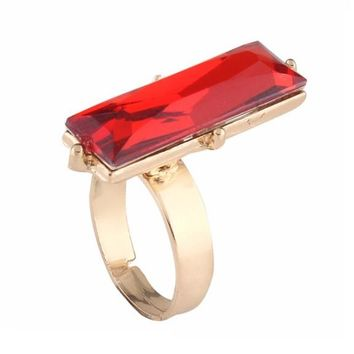 Red Crystal Stones Rings For Women