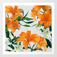 Glorious Lilies Art Print by Tamsin Lucie