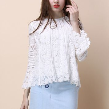 Lacey Romance Top in White