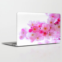 cherry tree blossom Laptop & iPad Skin by Haroulita