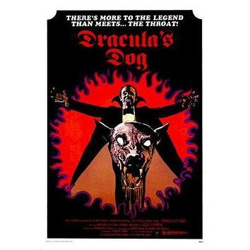 Draculas Dog Movie poster Metal Sign Wall Art 8in x 12in