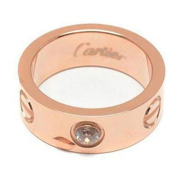 DCCKNQ2 Cartier Woman Fashion LOVE Diamond Plated Ring For Best Gift-1