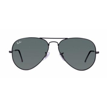 MDIGH31 Ray Ban Aviator Black with Green G15 Lens RB3025 L2823