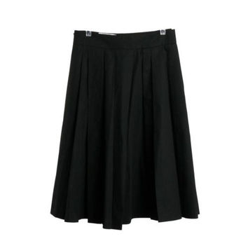 Viktor & Rolf Black NEW NWT Pleated Cotton Skirt Size EU 40 US 2 4 RP $575