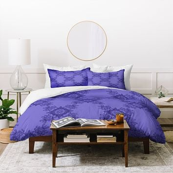 Lara Kulpa Ornamental Purple Duvet Cover