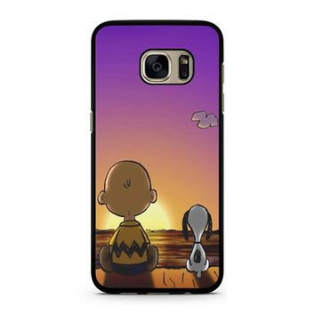 Snoopy And Charlie Brown Sunset Samsung Galaxy S7 Case