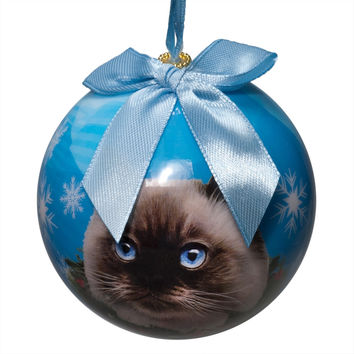 Himalayan Cat Christmas Ball Ornament