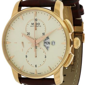 Mido Baroncelli Leather Automatic Chronograph Watch M8607.3.11.82
