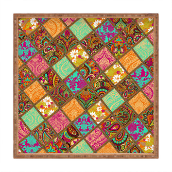 Aimee St Hill Patchwork Paisley Orange Square Tray