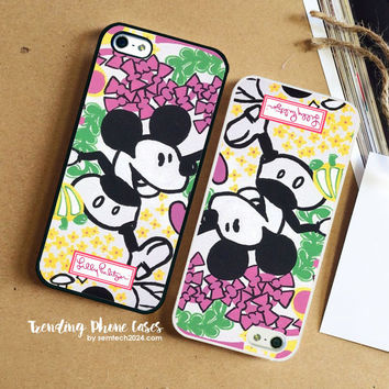 Lilly Pulitzer 1970's -An Ode To Disney- Mickey Mouse iPhone Case Cover for iPhone 6 6 Plus 5s 5 5c 4s 4 Case