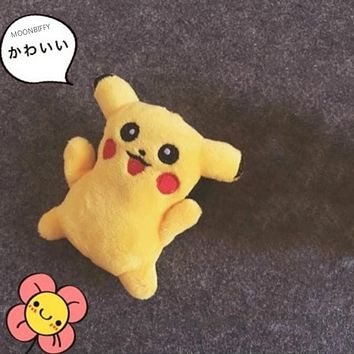 Super HOT 1X Pikachu Cute Gift Plush Toy Pikachu Cat Stuffed Plush Doll , Stuffed Animal Cat plush toy doll , string rope