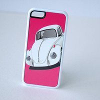 Custom VW Beetle Phone Case, Pink iPhone Case, iPhone 6 Case, iPhone 6 Plus, 6+ Case