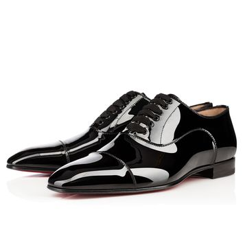 GREGGO FLAT BLACK Patent - Men Shoes - Christian Louboutin